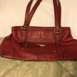 Red leather used a few times like new